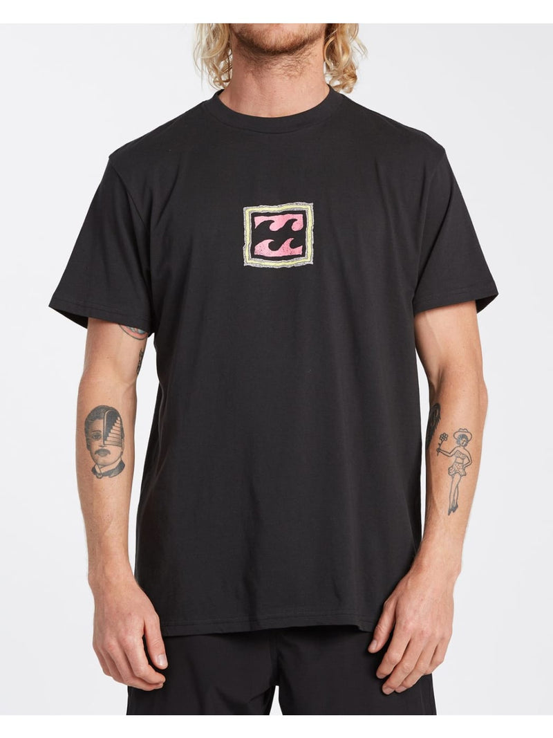 Crayon Wave T-Shirt Black