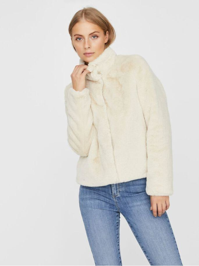 Thea Short Faux Fur Jacket