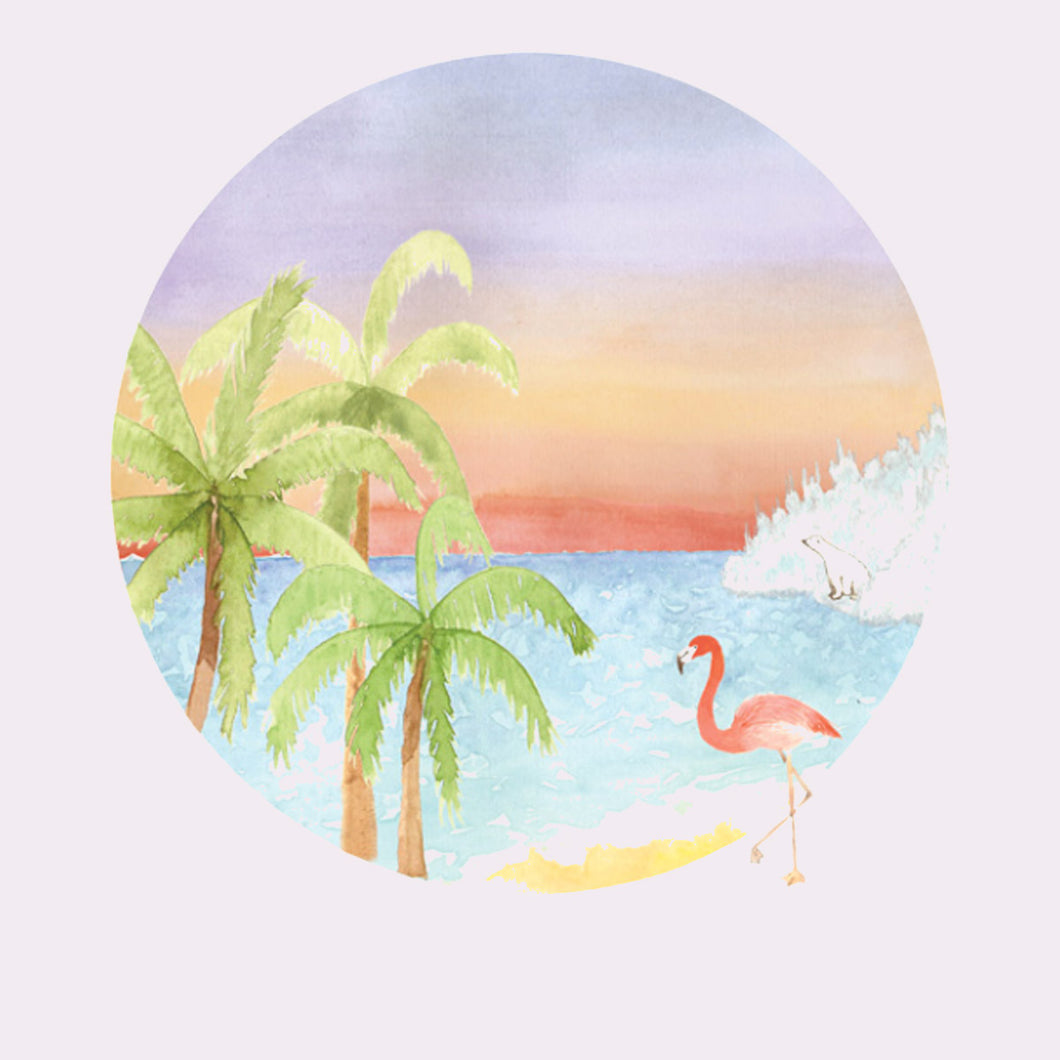 Post Tropical Watercolour Limited Edition Print