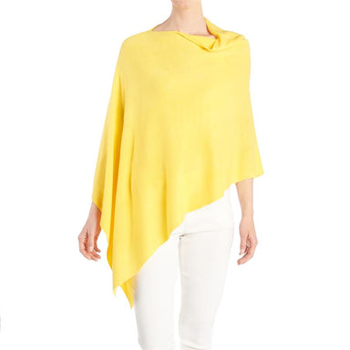 Lightweight Acrylic Poncho in Aspen Gold