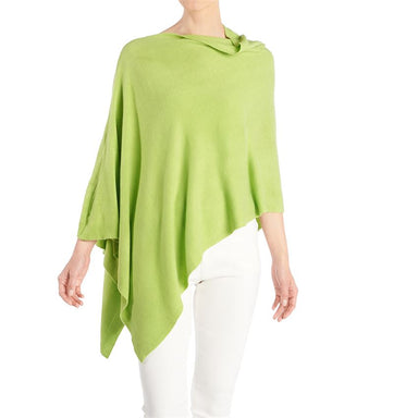 Lightweight Acrylic Poncho in Lime