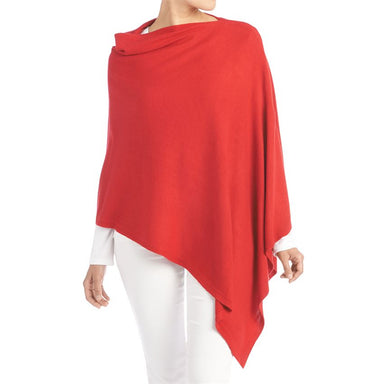 Lightweight Acrylic Poncho in Red