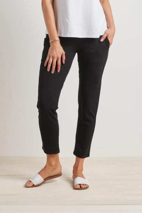 Black Straight Leg Travel Pant