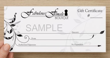 Gift Card | In-Store - Fabulous Female Boutique