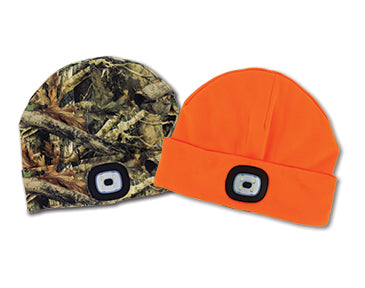 Hunter Orange Beanie With Rechargeable LED Light