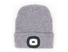 Grey Knit Hat With Rechargeable LED Light