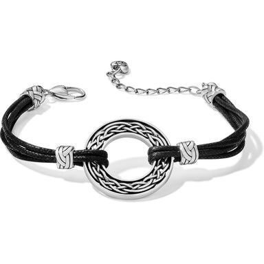 Black Interlok Weave Cord Bracelet