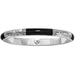 Wiltern Hinged Black & Silver Bangle