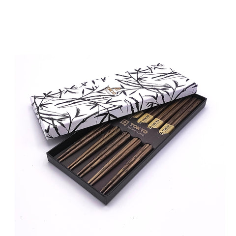 Chopsticks Giftbox 5er Set Wood