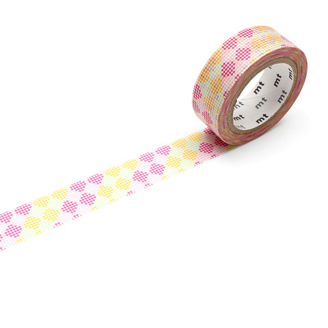 MT Masking Tape / Washi - Design: Checkers Stripe Pink