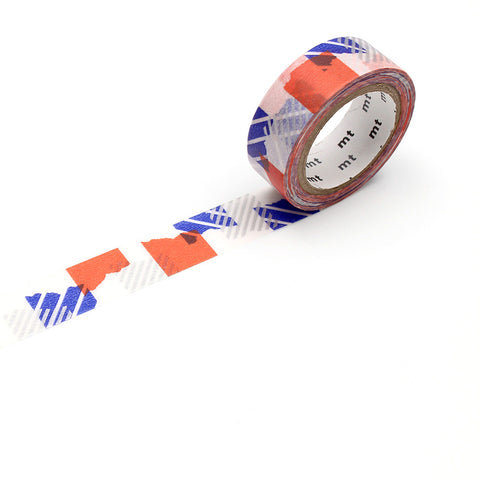 MT Masking Tape / Washi - Design: Tsugihagi Blue X Orange