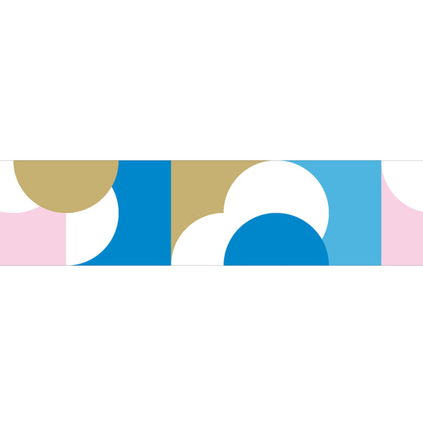 MT Masking Tape / Washi - Design: Half Circle Pink Blue