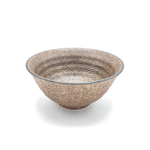 Minoyaki Bronze Wave Japanese Bowl