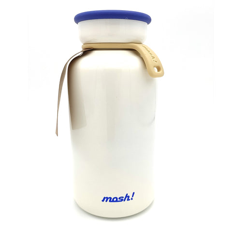 japanese vacuum insulation bottle Mosh 450 ml white