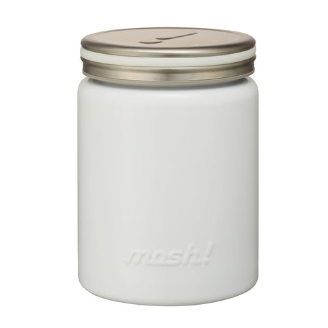 japanese food vacuum insulation stainless pot Mosh! white