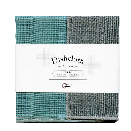japanese natural dishcloth rayon infused anti-bacterial Nawrap R.I.B. turquoise