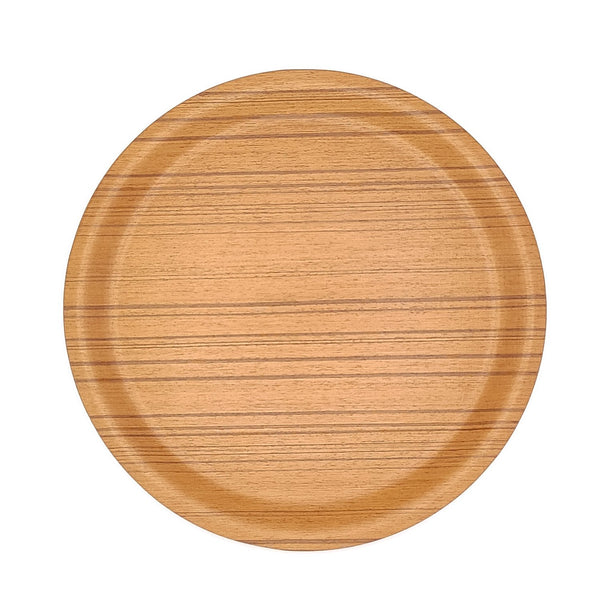 japanese Saito Wooden tray round Plywood above