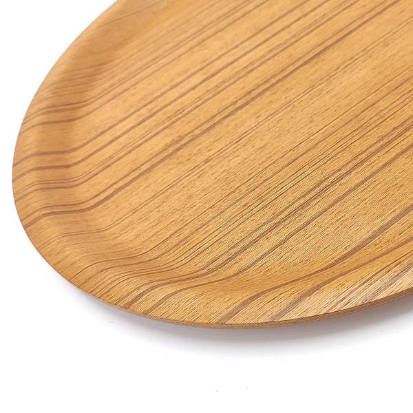 japanese Saito Wooden tray round Plywood side