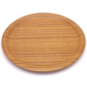 japanese Saito Wooden tray round Plywood