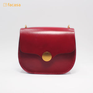 [E20200017] Handcrafted Genuine Leather Round Bag (Japanese Style)