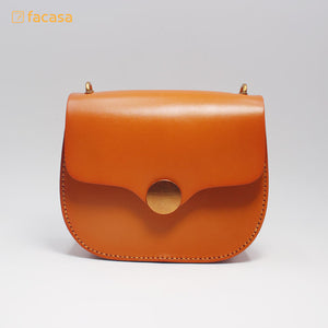 [E20200016] Handcrafted Genuine Leather Round Bag (Japanese Style)