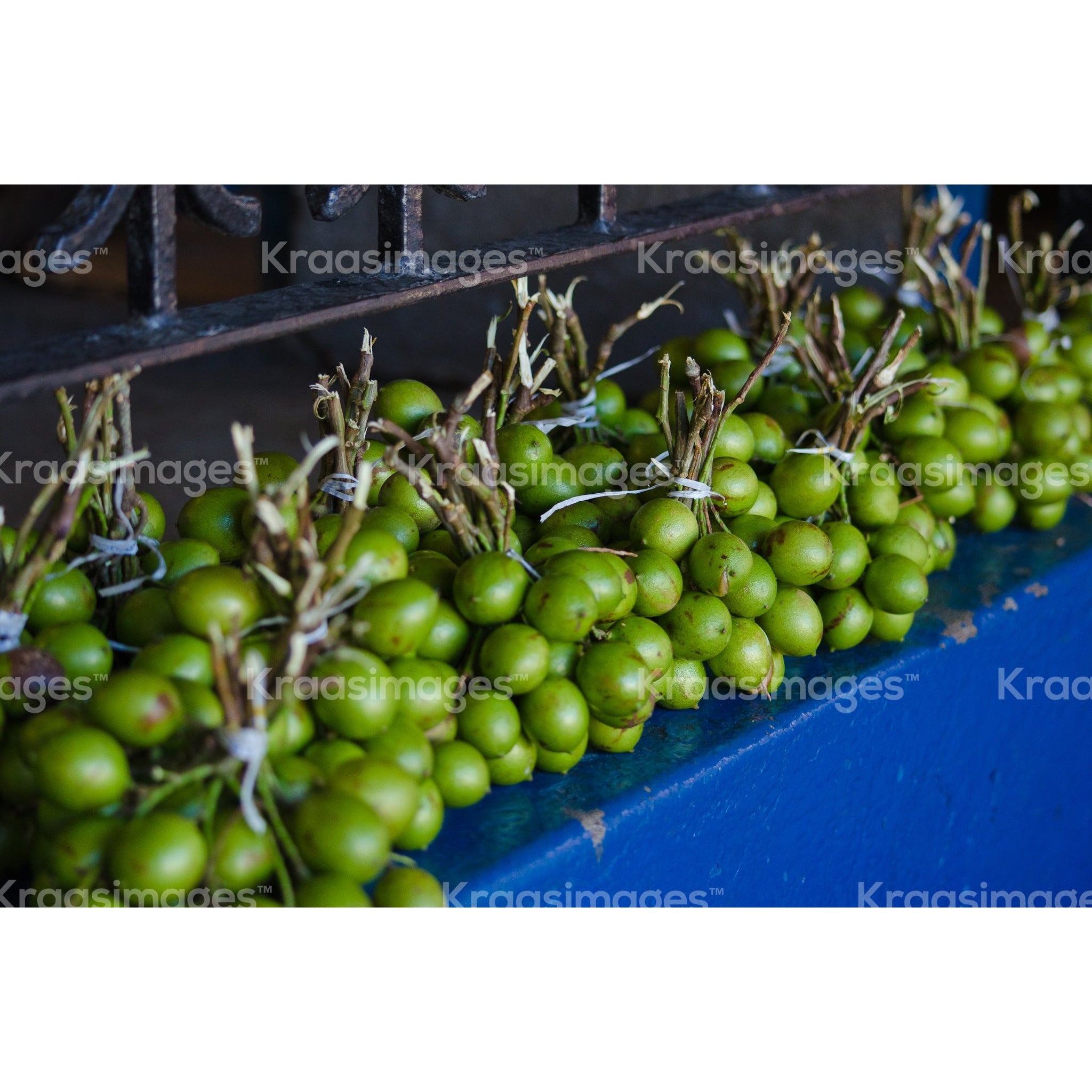 Guineps tied in bunches stock photo
