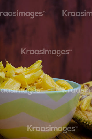 Organic, fresh jackfruit stock photo