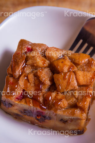 Sweet Homemade Bread Pudding stock photo