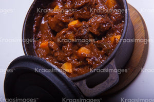 Stew in crockpot stock photo