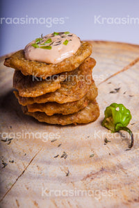 Saltfish fritters stock photos