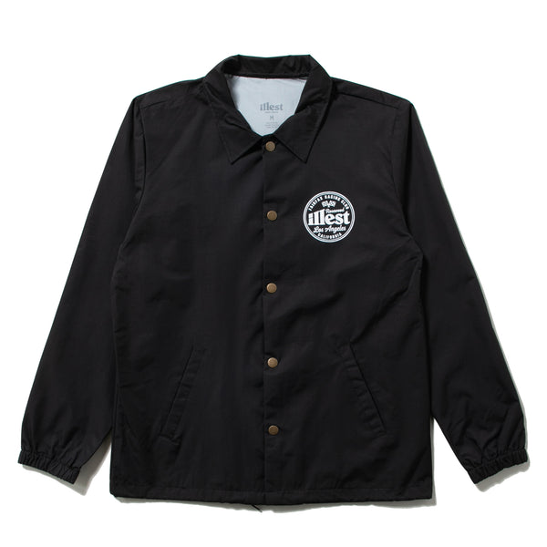 FAIRFAX COACH JACKET - BLACK