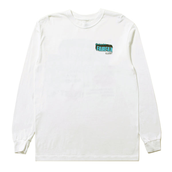 FAIRFAX GREETING TEE LS - WHITE