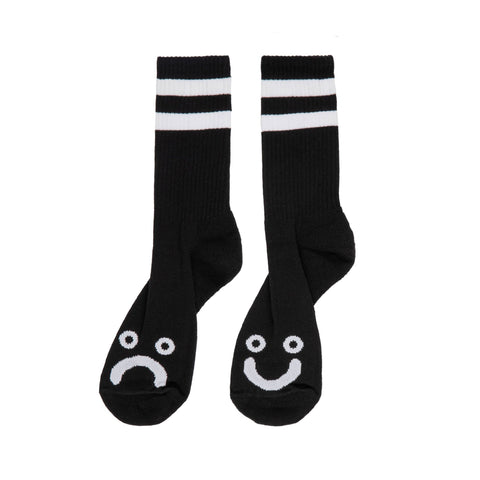 HAPPY SAD SOCKS BLACK