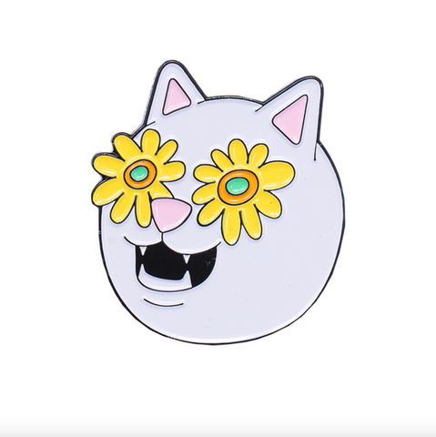 FLOWER BELLY PIN