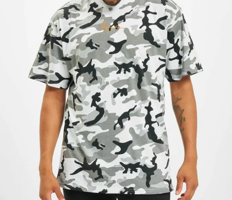 SMALL SIGNATURE CAMO TEE BLACK/GREY/WHITE
