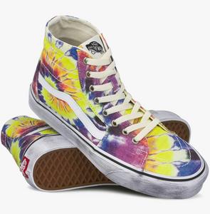 SK8-HI TAPERED WASHED TIE DYE/TRUE WHITE