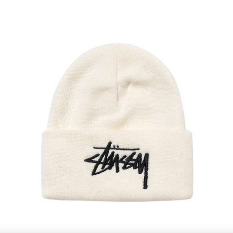 BIG STOCK CUFF BEANIE OFF WHITE