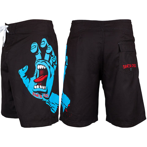 SCREAMING HAND BOARDIE BLACK SHORT