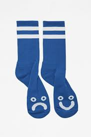 HAPPY SAD SOCKS ROYAL BLUE