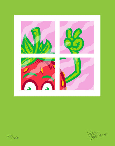 Todd Bratrud Strawberry Window Print