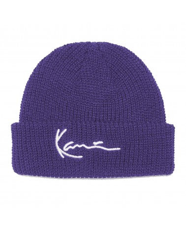 SIGNATURE FISHERMAN BEANIE PURPLE