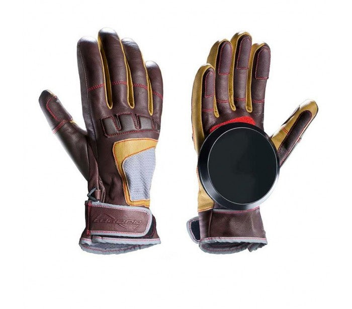FREERIDE GLOVES LEATHER BROWN
