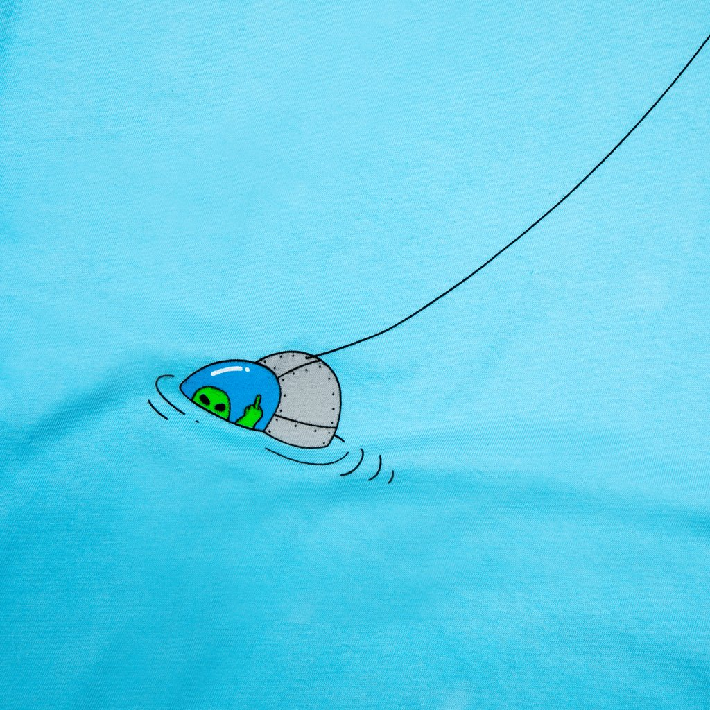 FOREIGN FISH POCKET TEE LIGHT BLUE