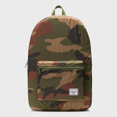 PACKABLE DAYPACK WOODLAND CAMO (POLY FABRIC)