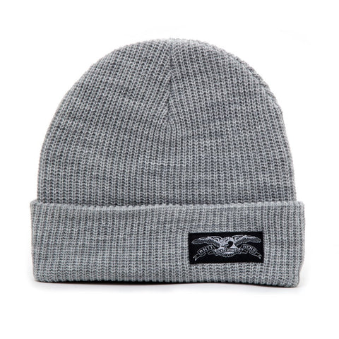 STOCK EAGLE LABEL GREY BEANIE
