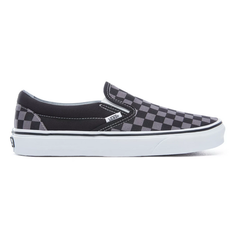 SLIP-ON CHECKERBOARD BLACK/PEWTER