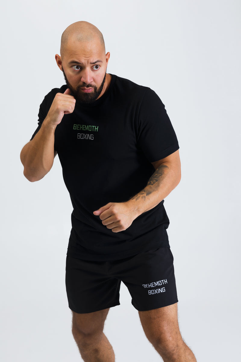 Men's Fitted Tee - Black - Behemoth Boxing
