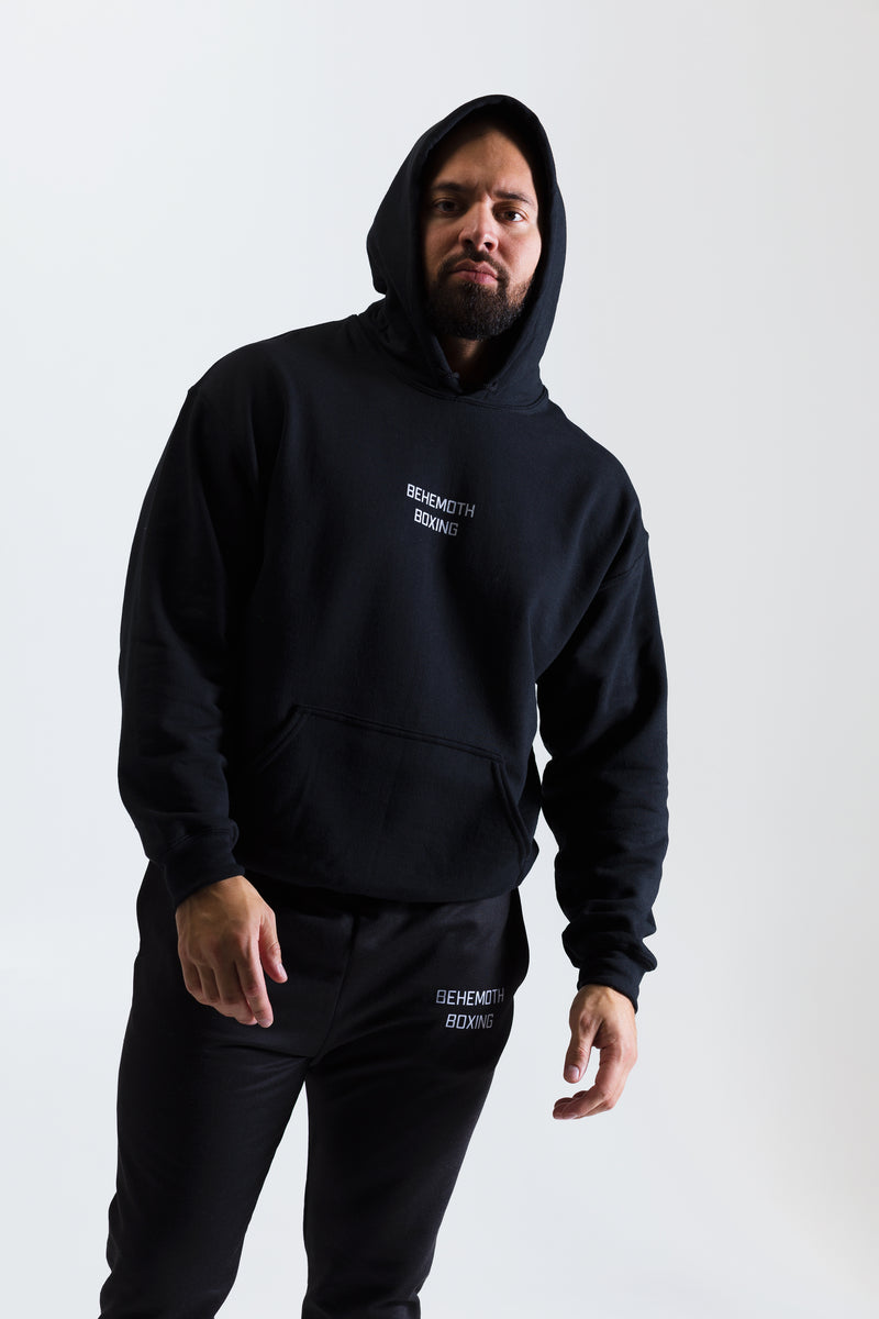 Men's Behemoth Boxing Hoodie - Black - Behemoth Boxing