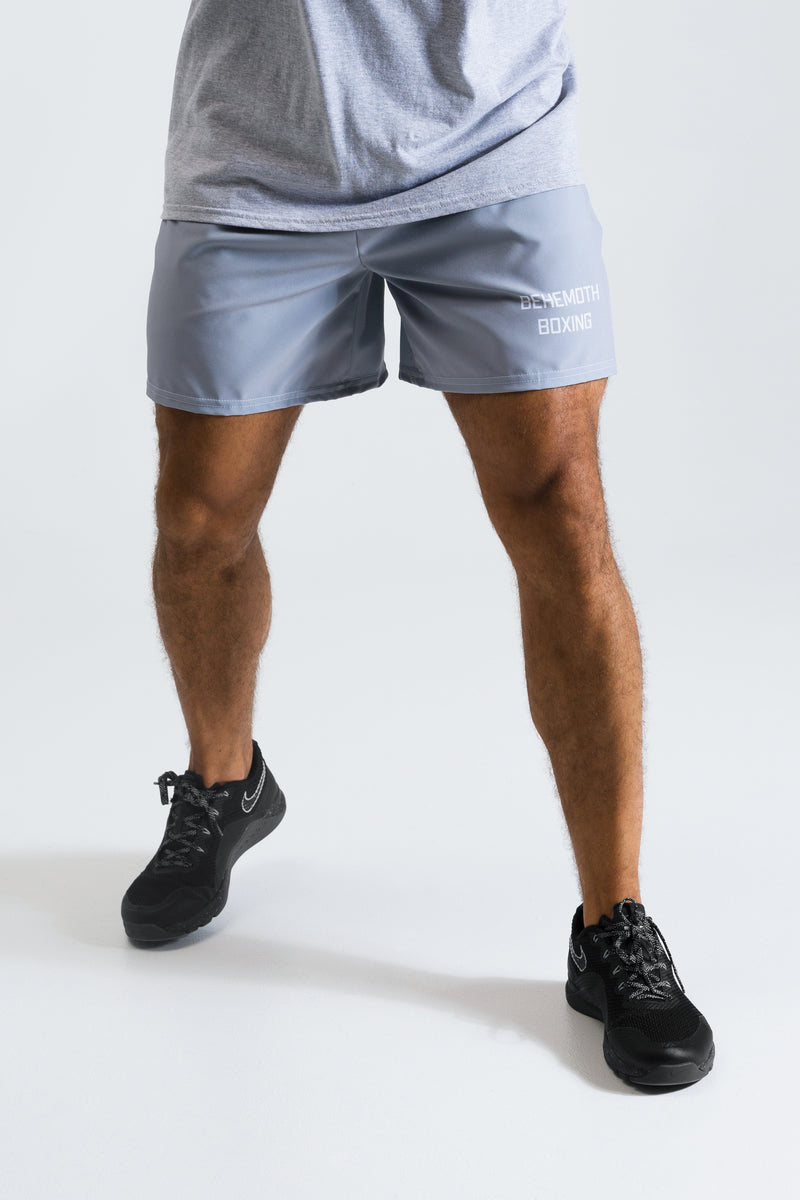 Men's Training Shorts - Grey - Behemoth Boxing