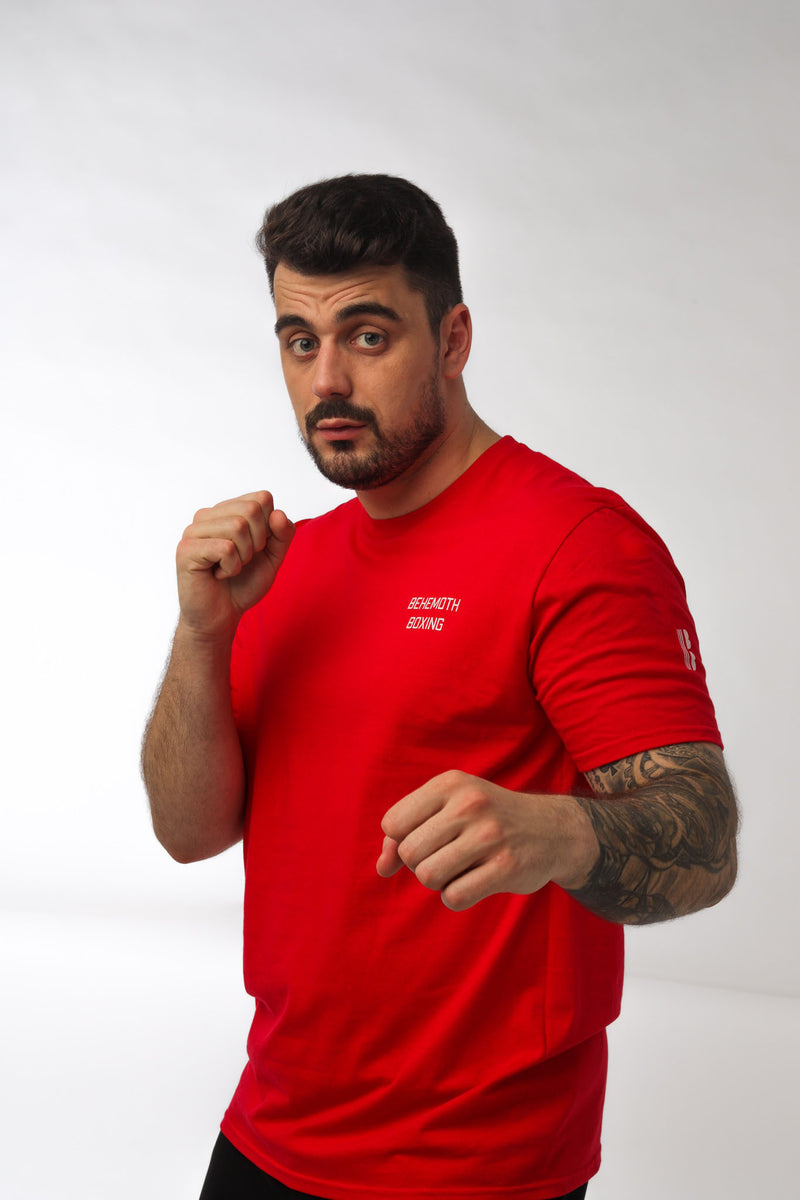 Technician Tee - Red - Behemoth Boxing